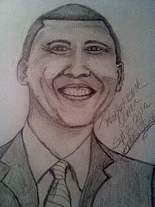 225x300 President Obama Drawings