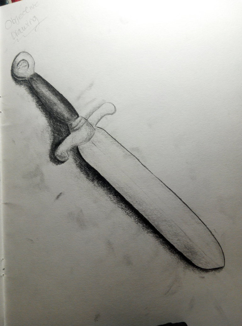 770x1038 Dagger Objective Drawing (Week 4 Creation) By Darkn3x