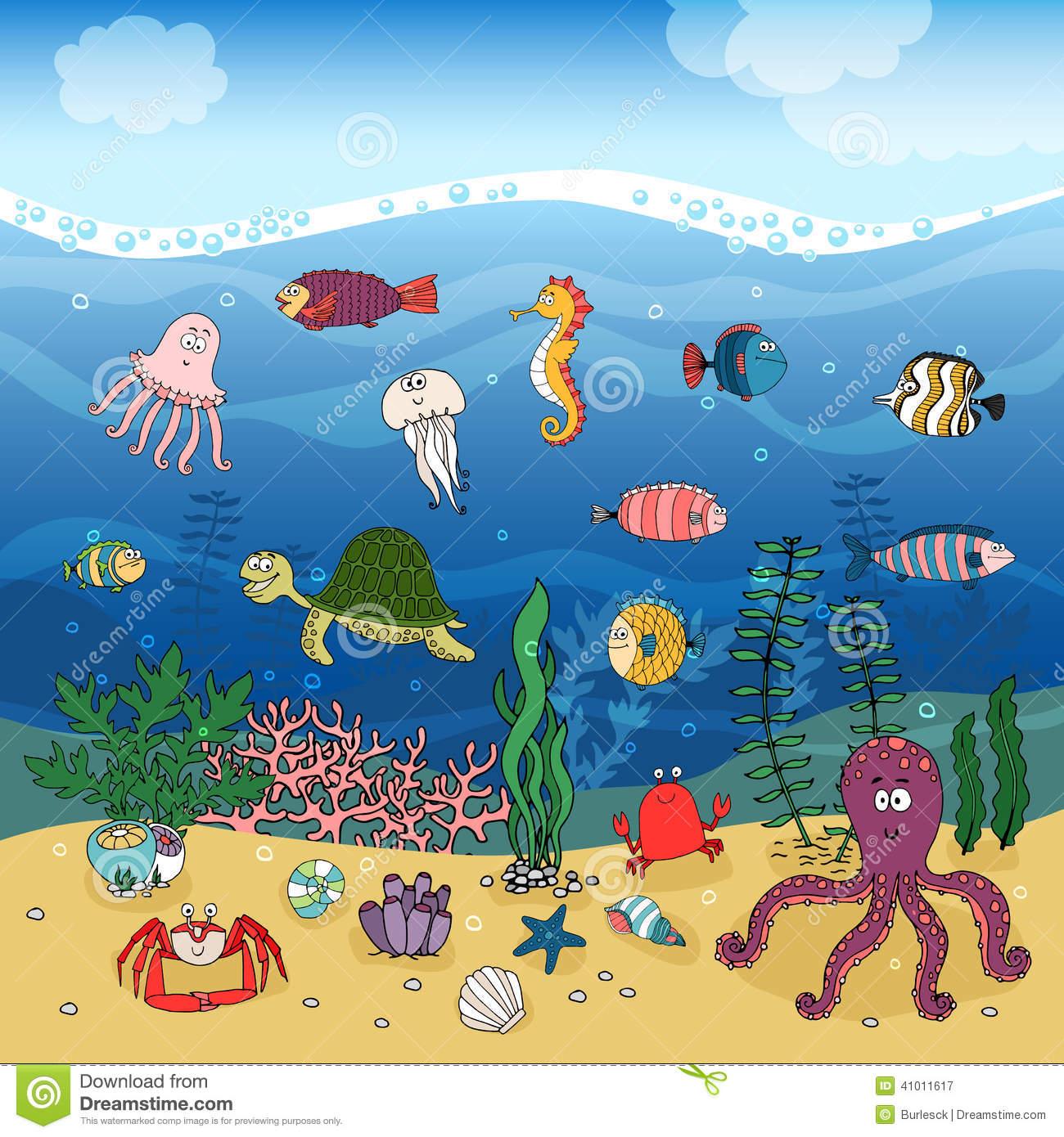 1300x1390 Marine Life Clipart Ocean Ecosystem