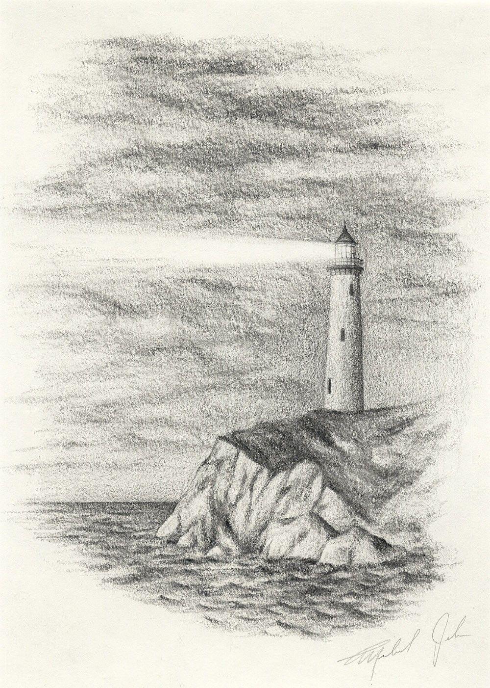 Ocean Pencil Drawing At Getdrawings