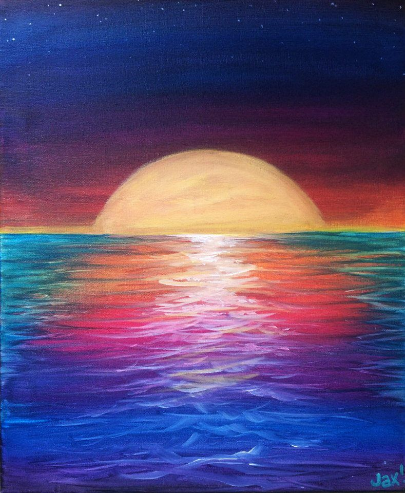 Ocean Sunset Drawing At Getdrawings