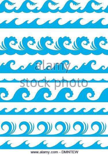 375x540 Seamless Ocean Wave Set Stock Photos Amp Seamless Ocean Wave Set