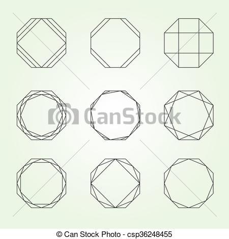 450x470 Octagon Set Sacred Geometry