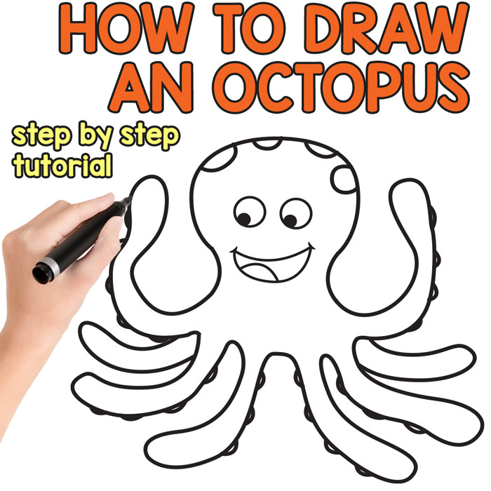 700x700 How To Draw An Octopus