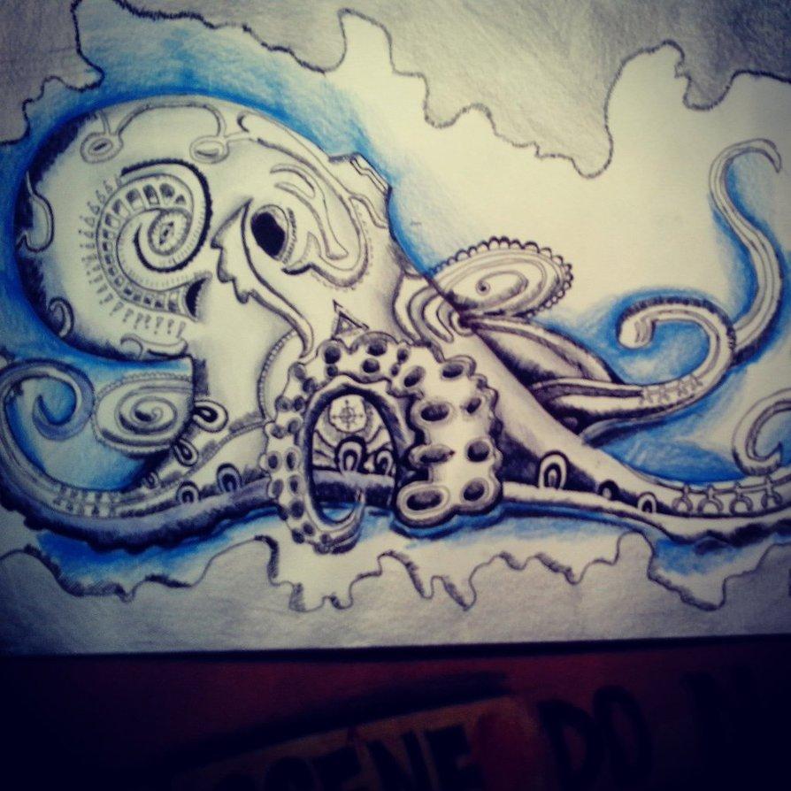 894x894 Octopus Drawing [F] By Azamalakazam