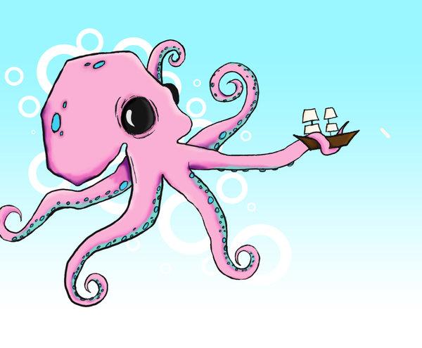 600x495 Octopus Drawing By Murderedinthemoshx