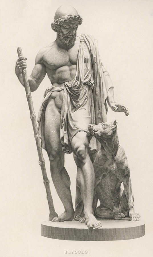537x900 Odysseus Is Recognised By His Dog Drawing By Mary Evans Picture