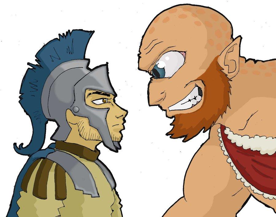900x709 Odysseus And The Cyclops Wip By 4elementguru