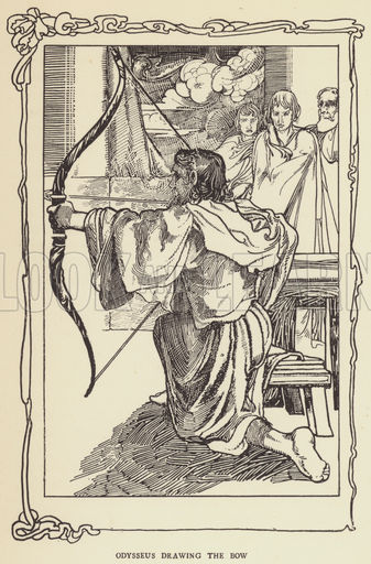 337x512 Odysseus Drawing The Bow