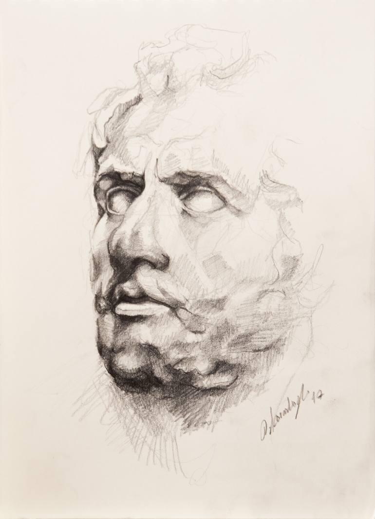 770x1066 Saatchi Art Portrait Of Odysseus Drawing By Onur Karaalioglu