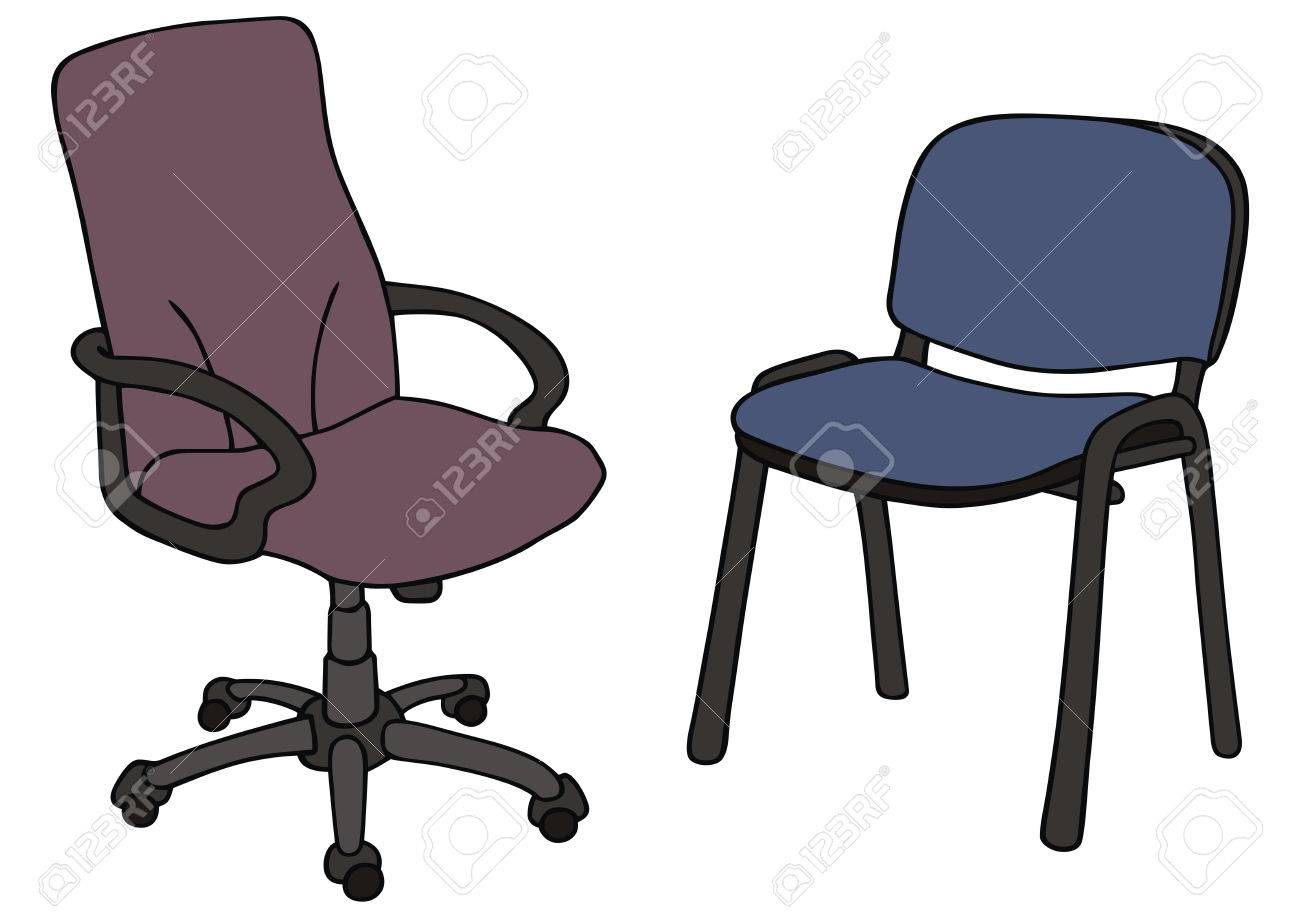 1300x918 Hand Drawing Of Office Chairs Royalty Free Cliparts, Vectors,