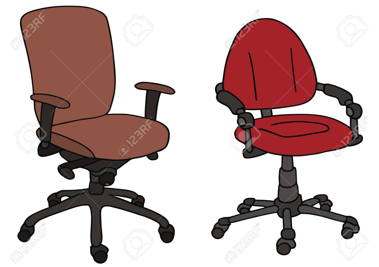 1300x918 Hand Drawing Of Two Office Chairs Royalty Free Cliparts, Vectors