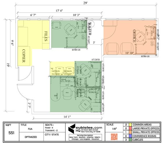 564x500 Cubicle Layout For A Very Small Office.