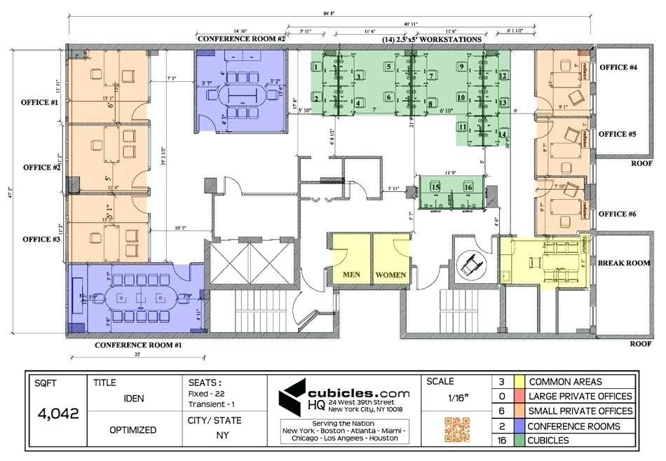 950x658 Office Layout Plan