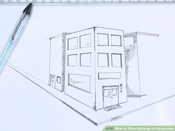 728x546 How To Draw Buildings In Perspective 9 Steps (With Pictures)