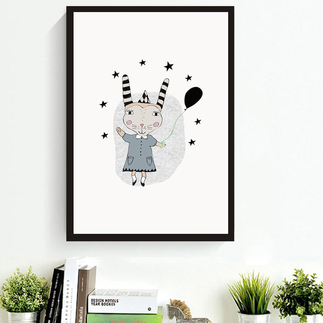 640x640 Creative Animals Bunny Wall Art Candecorative Paintings Living