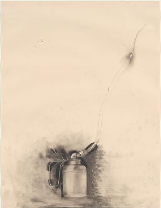 327x420 Jim Dine. Untitled (Oil Can) From Untitled Tool Series. Graphite
