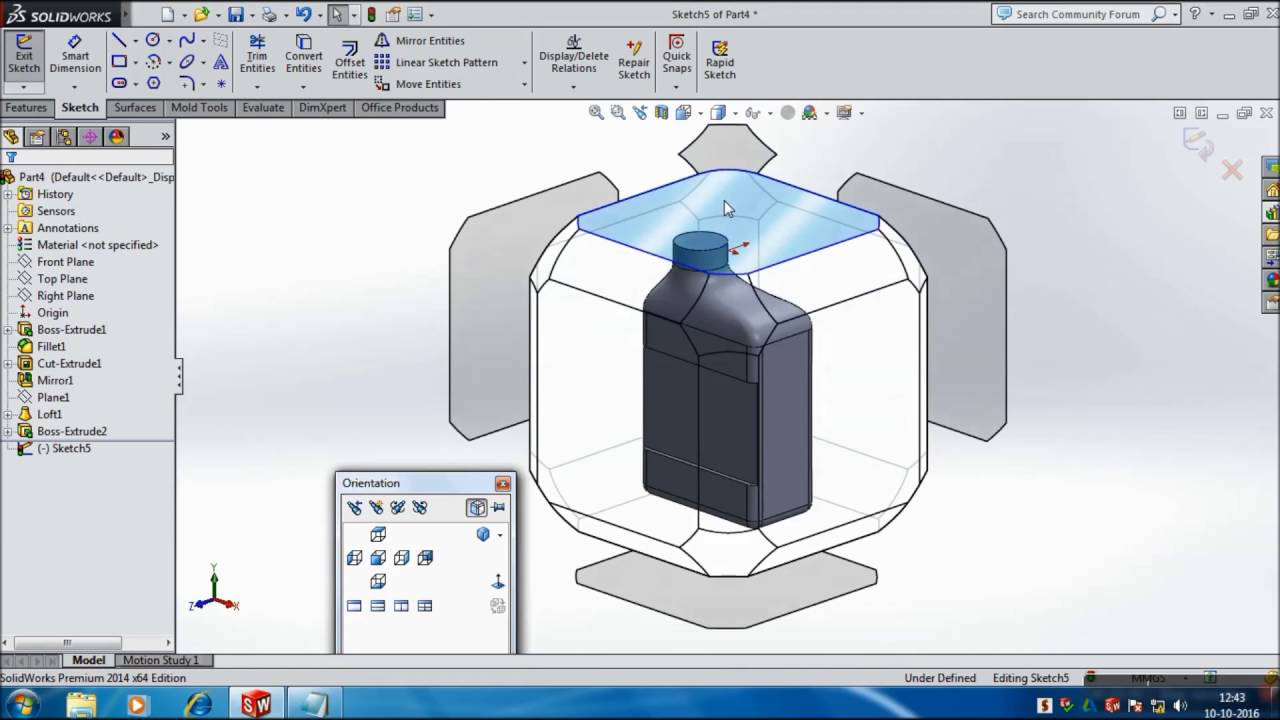 1280x720 Solidworks Tutorials Oil Can Body Part 1