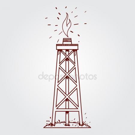 450x450 Gas, Oil Derrick Icon Stock Vector Filkusto