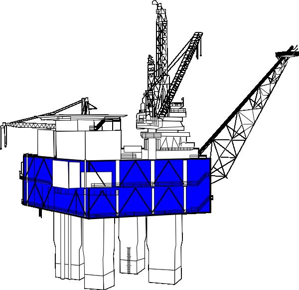 600x581 Offshore Oil Rig Clip Art