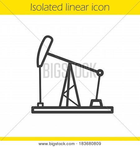 450x470 Oil Derrick Linear Icon. Thin Line Vector Amp Photo Bigstock