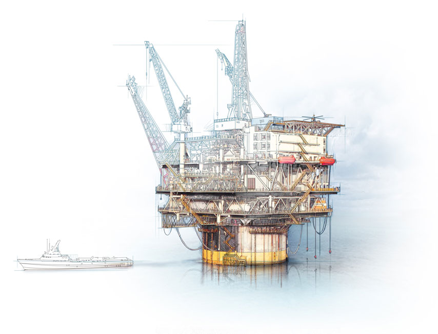 854x650 Offshore Rig.jpg Drawing Narrative