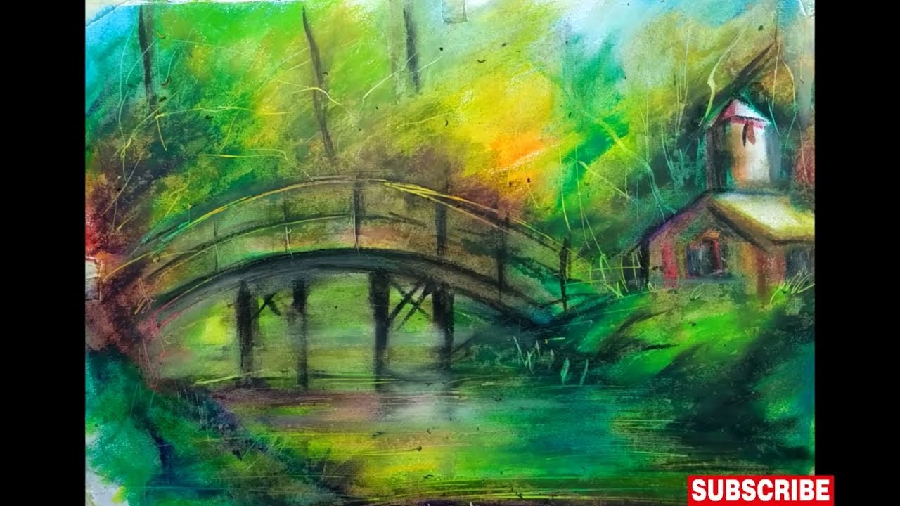 1280x720 How To Draw A Scenery Of Nature With Oil Pastels True Oil