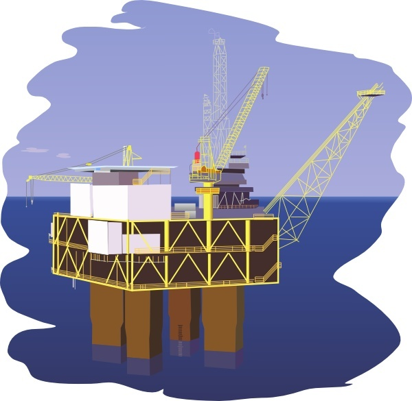 600x585 Oil Rig Clip Art Free Vector In Open Office Drawing Svg ( Svg