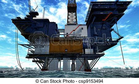 450x273 Oil Rig Drawing