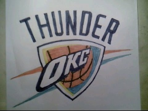 480x360 How To Draw Okc Oklahoma City Thunder Logo