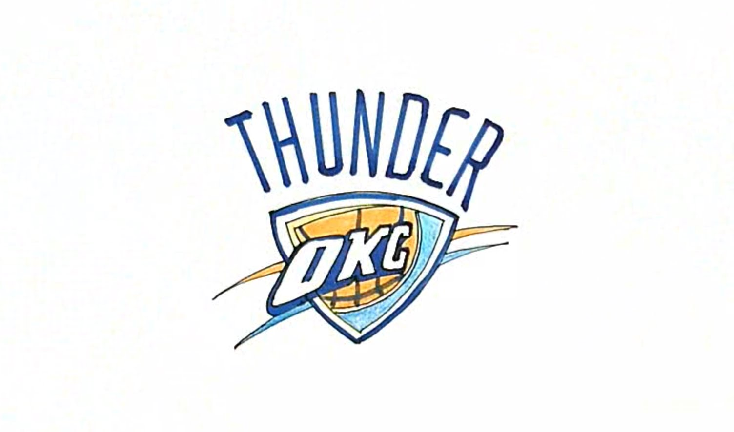 1504x886 Learn How To Draw The Oklahoma City Thunder Logo In This Step By