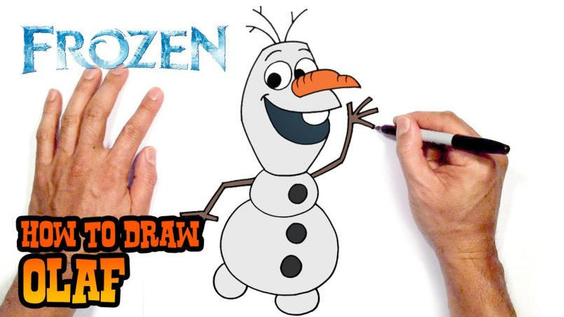 805x453 Drawing How Draw Olaf Very Easy In Conjunction With How
