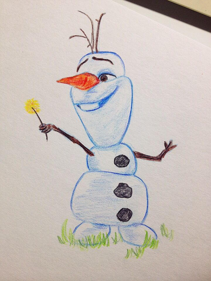 720x960 Olaf Is So Easy To Draw ) Drawings Olaf, Easy