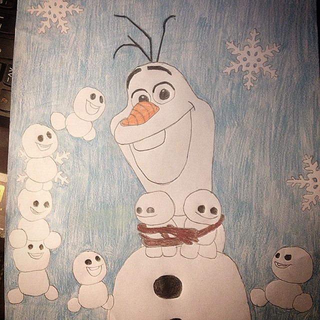 640x640 Disney Frozen Fever Olaf And The Snowgies By Kingoart