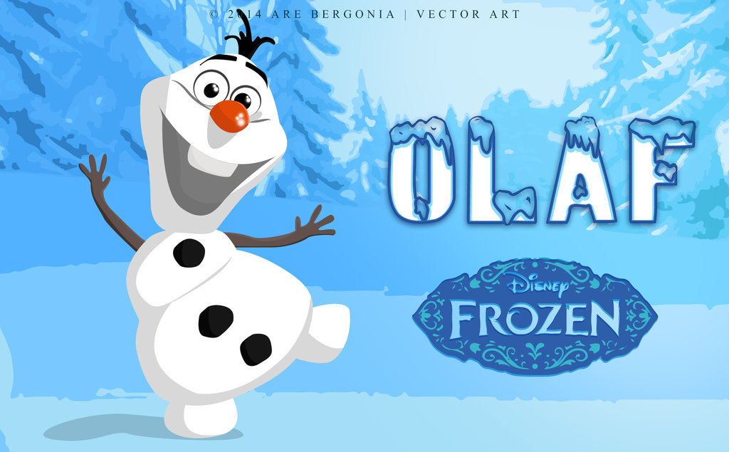 1024x635 Olaf (The Snowman) In Frozen Vector Art By Arelberg