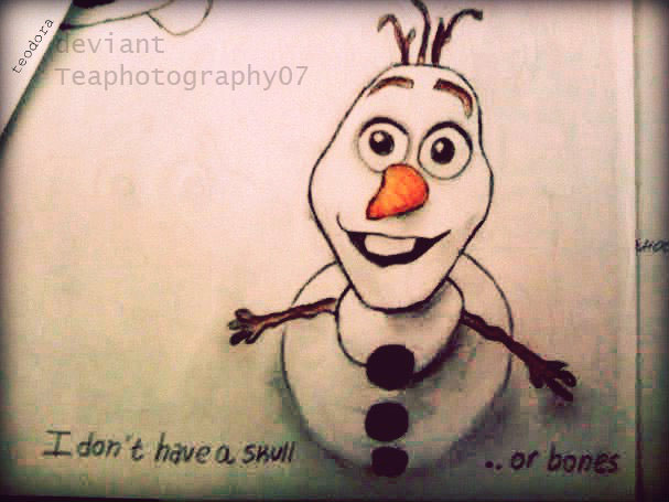 607x455 Olaf Drawing By Teaphotography07