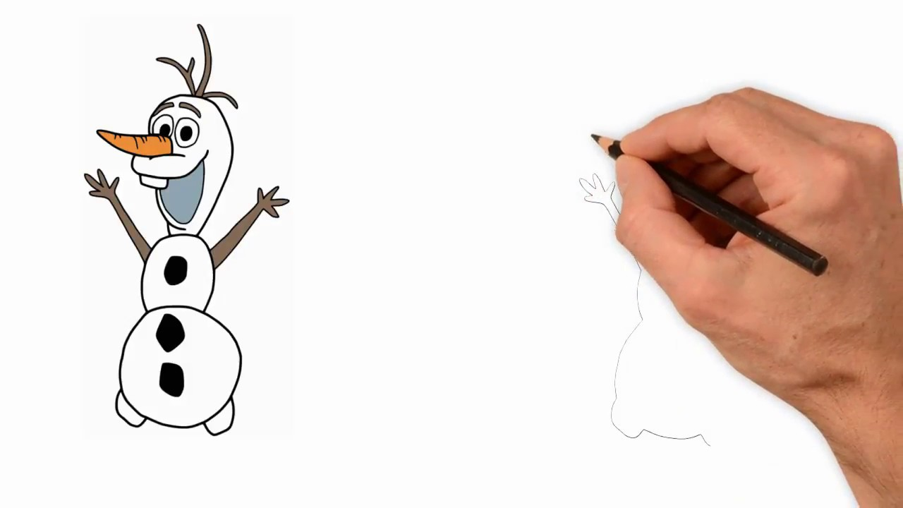 1280x720 How To Drawing Happy Olaf The Snowman Mr. Painting