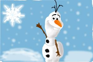 300x200 Olaf The Snowman From Queen Frozen