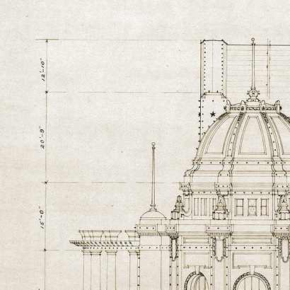 architecture building drawing. 410x410 Vintage Architectural Drawing â\u20ac\u201c Zinc Architecture Building