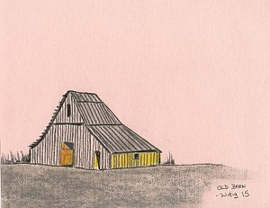 300x231 Old Barns Drawings