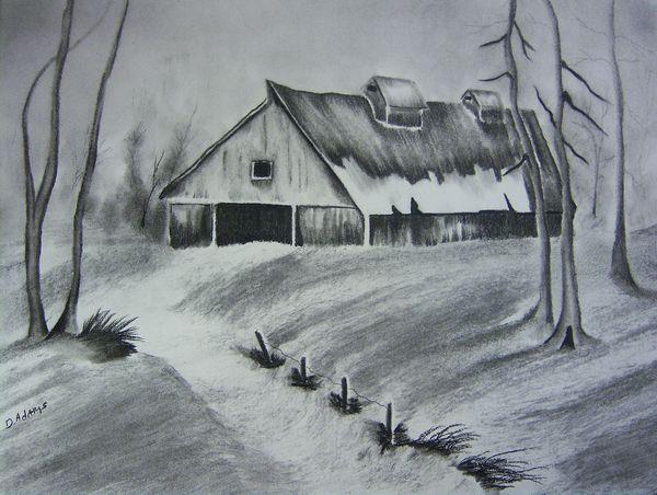 600x452 Old Hay Barn Adamsart