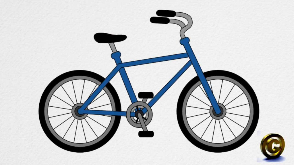1024x576 Drawing Of A Bicycle Old Bicycle Stock Photo Image 41182595