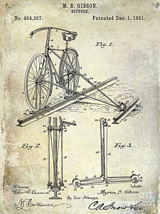 225x300 Old Bicycle Drawings Fine Art America