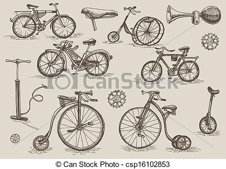 450x337 Vintage Bicycle Line Drawing