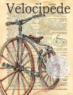 236x304 Vintage Miniature Old Time Three Wheel Bicycle Bike Antique Big