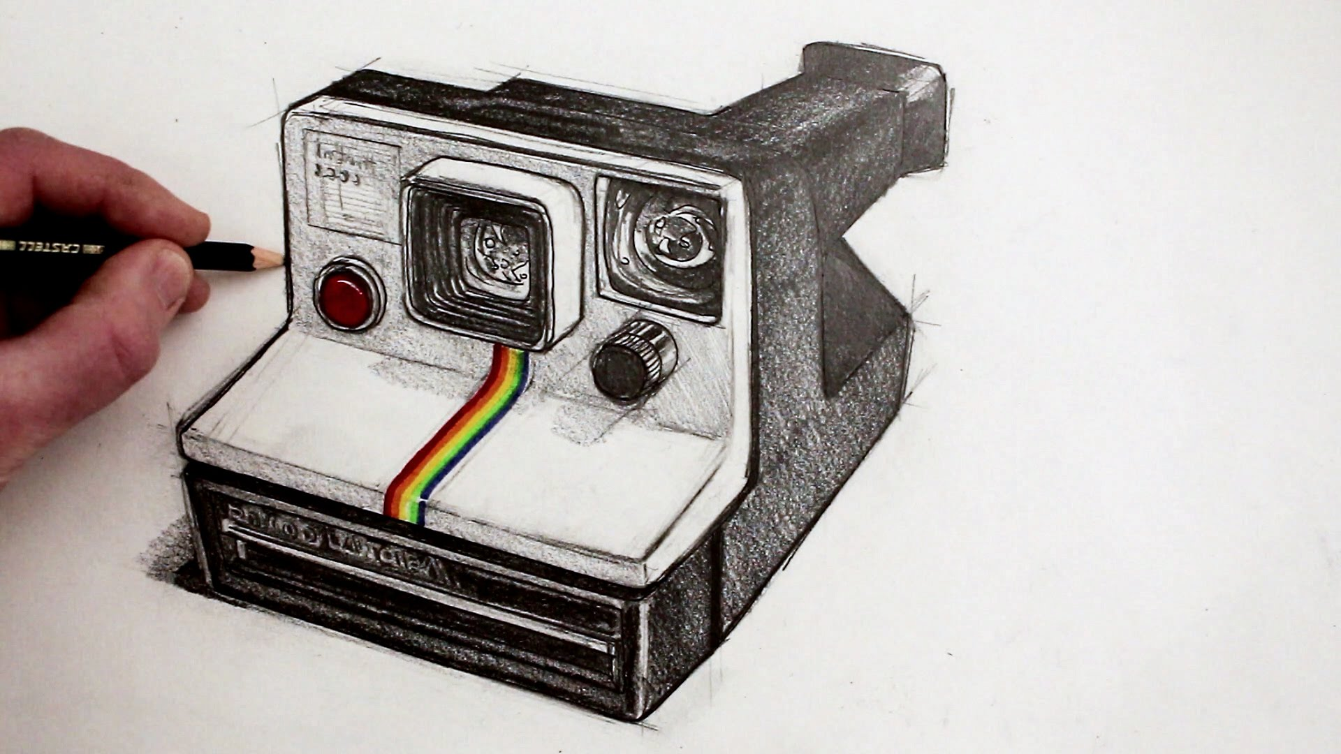 1920x1080 How To Draw A Camera Polaroid Land Camera