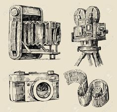 236x225 Drawing Old Camera