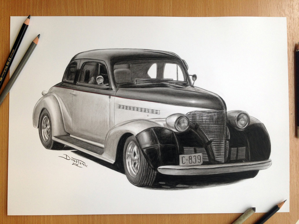 1032x774 Car Pencil Drawing By Atomiccircus