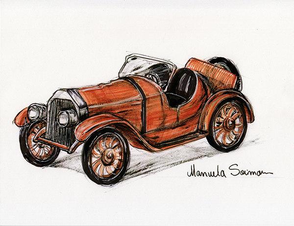 600x462 Classic Car Classic Ford 1920s Original Art Print Free