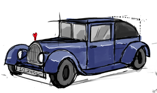 500x296 How I Draw A Old, Classic Car